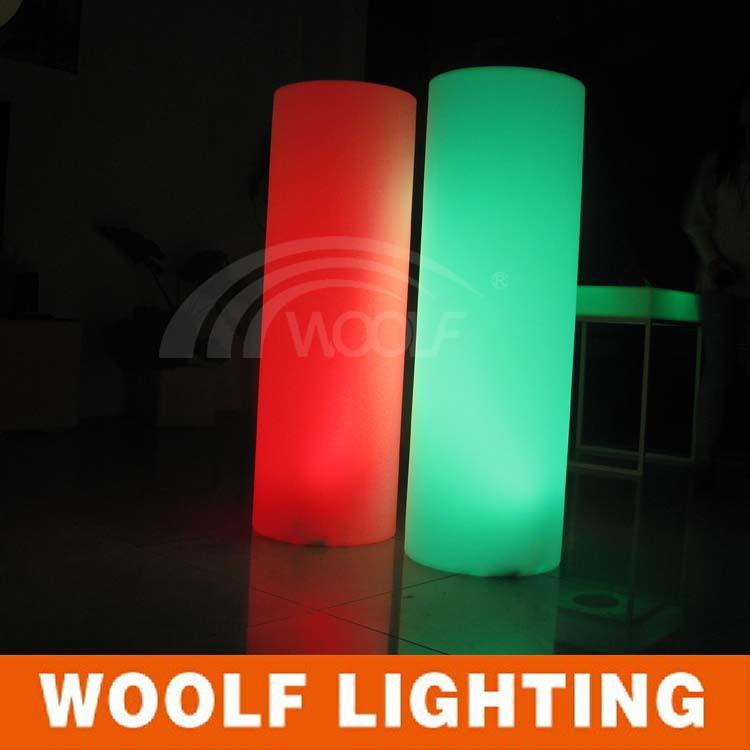 Color Changing Flashing Led Cylinder Lamp Lighting Pillars For Indoor With Remote Control Event Dekoration Columns Column Light