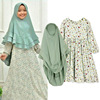 high quality 2019 new muslim dresses with hijab for children RTS item