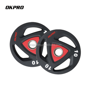 China Weight Lifting Plates Barbell 10KG TPU Weight Plates
