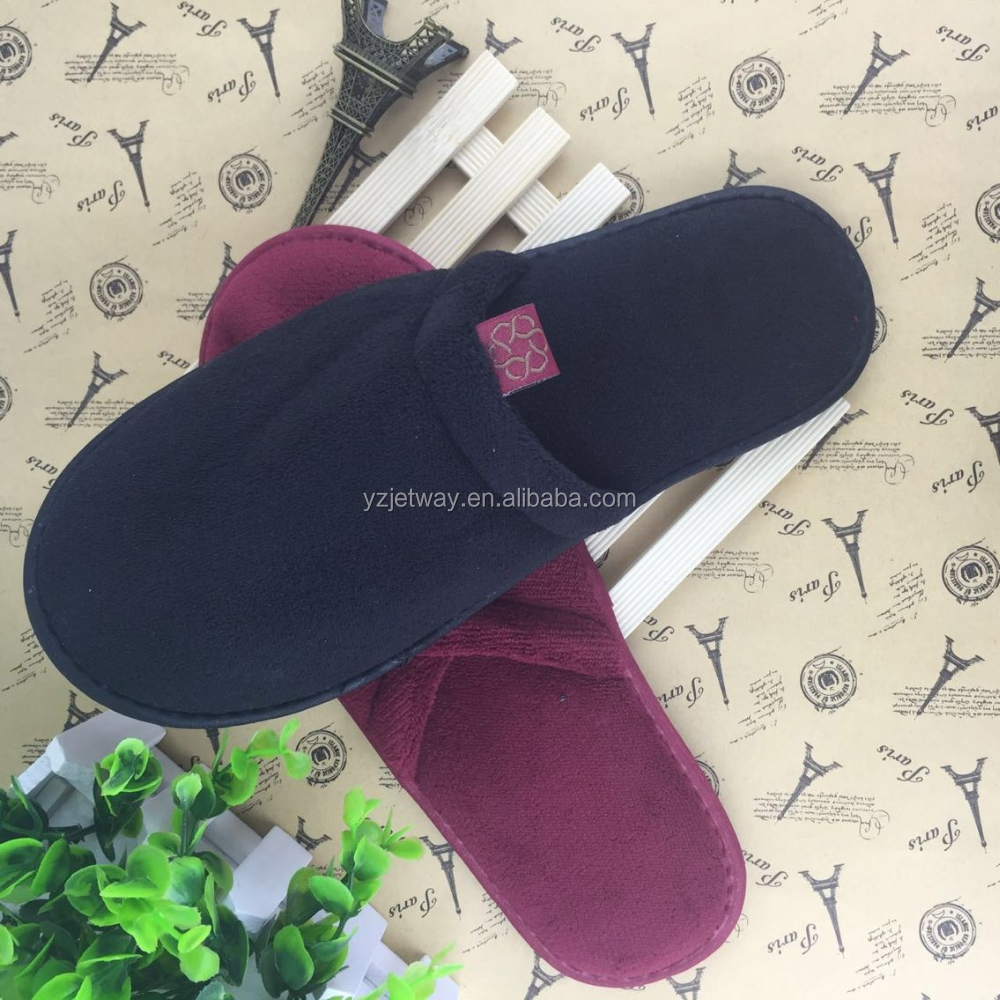 Custom hotel slipper, indoor soft disposable slipper with a variety of color.
