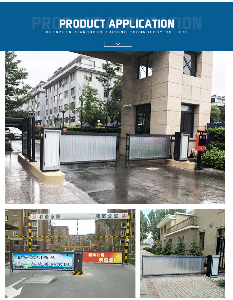 new style automatic car park access control system barrier advertising on gate