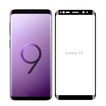 Full coverage 3d curved tempered glass screen protector for samsung galaxy s9 plus