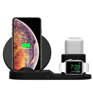 2019 10W 7.5W 5W Quick wireless Charge 3 in 1use for iWatch charger for airPods charger Cell Phone Wireless Charger