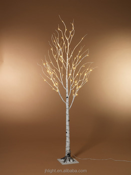 Chic Led Birch Tree Warm White For Home Light Standing On Floor Lighted Branches