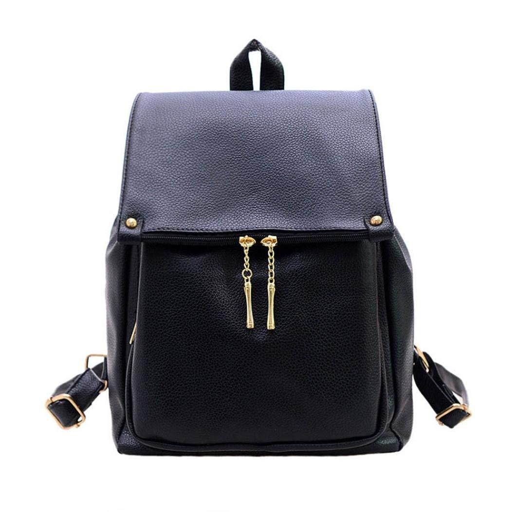 ❤️Clearance! Student Fashion Simple Backpack Women Fashion Double-Shoulder Lmitation Leather Backpack Schoolbag Messenger Bag Purse Portable Backpack Duseedik
