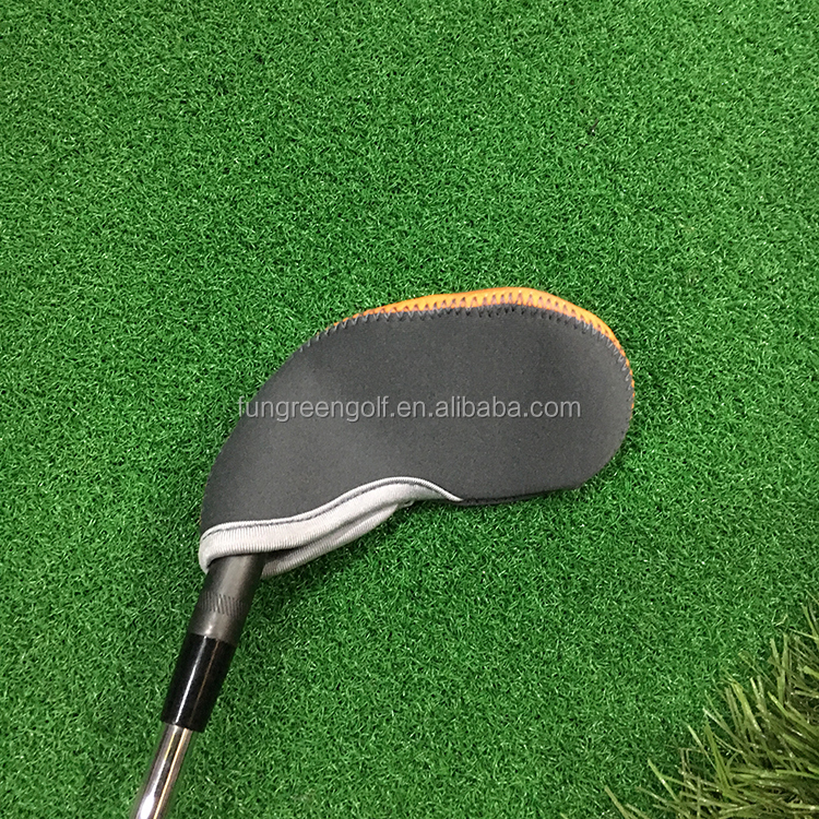 Custom logo golf iron club cover embroidery golf head covers from Guangzhou  Manufacturer