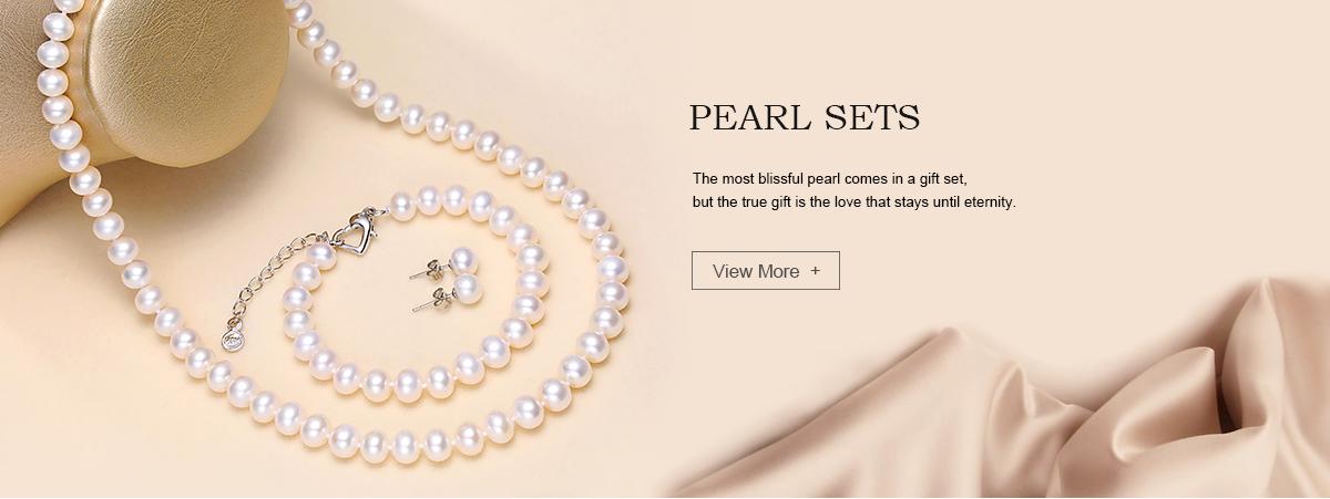 "AAA naturel forme blanc Biwa Pearl Necklace Bracelet Set 18/"" 7.5/"" long"