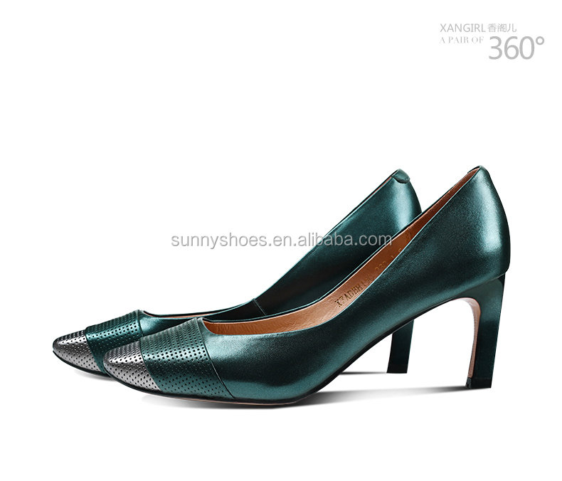 almond heel BH52 high court women stiletto shoes toe slip on genuine leather OqU7dRq