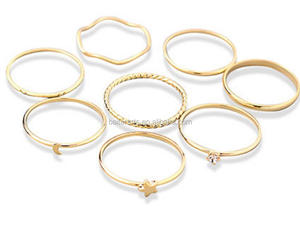 Simple Style Jewelry Gold Plated 925 Sterling Silver Tiny Dainty Stacking Ring