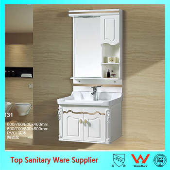 Pvc Bathroom Wash Basin Cabinet With And Mirror