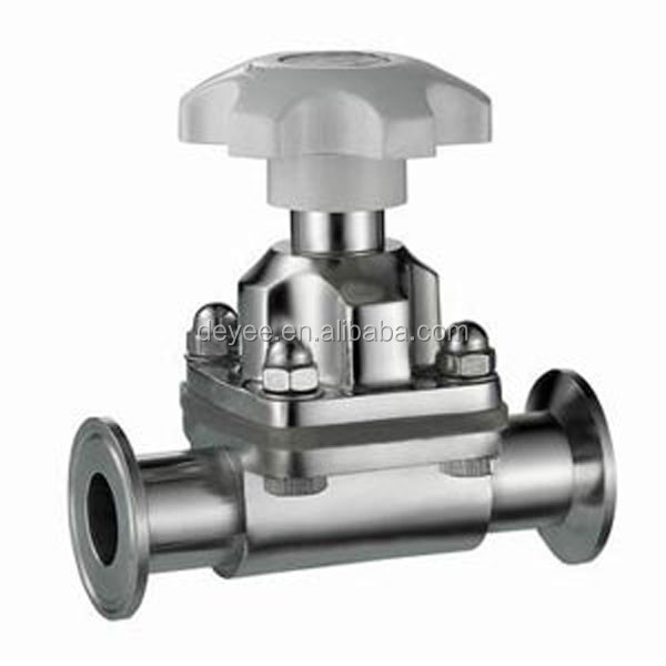 "1.5"" 38.1MM SMS SS316L Triclamped Diaphragm Valves with Silicone Seal"