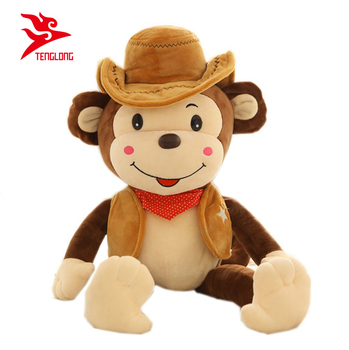 Custom Stuffed Big Monkey Plush Toy With Hat For Gift Buy Monkey