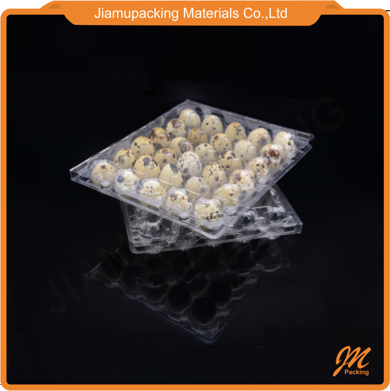 Chinese factory supply plastic quail egg cartons box tray with 30 cells
