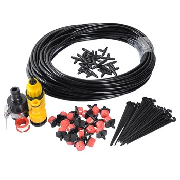 60 Feet Drip Irrigation System Kits For Outdoor Garden Greenhouse Automatic Watering Equipment