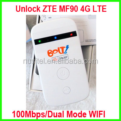 New Unlocked wifi 4g lte router zte mf90,wireless router 4G