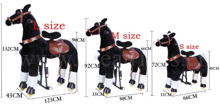 Presente de aniversário para crianças de diversões passeio interessante brinquedos de pelúcia tamanho pequeno pônei passeio passeio a cavalo mecânico para venda