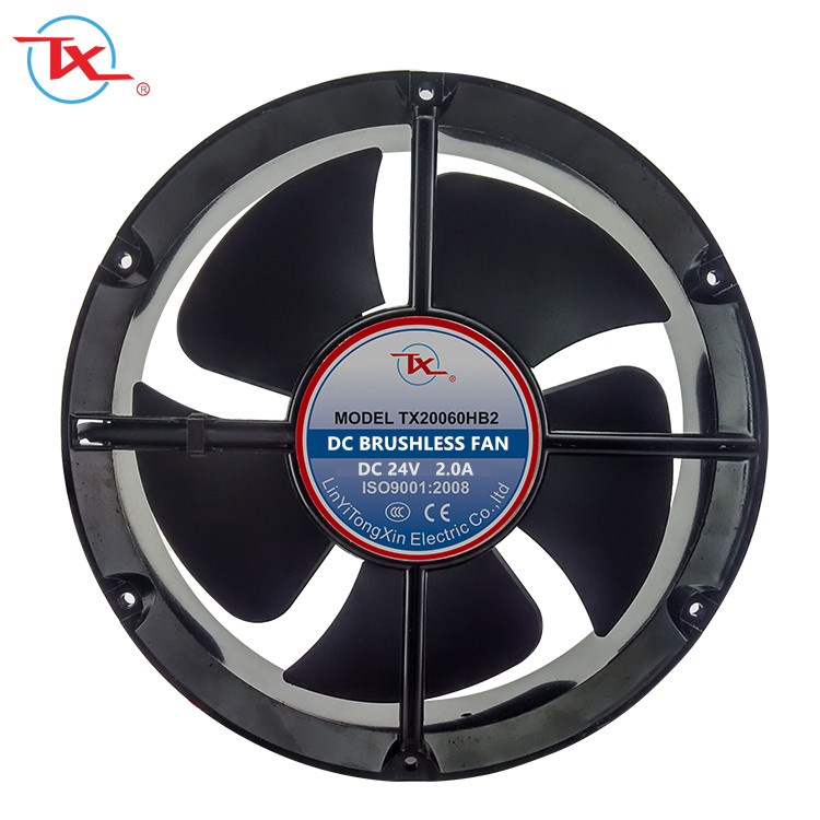 Auspuff fan DC luft colling fan 220mm 12 v/24 v/48 v 8 zoll um fan