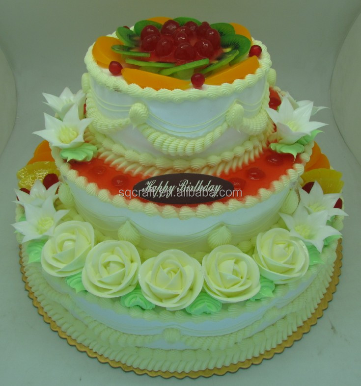 Artificial Wedding Anniversary Birthday Cake With Fake Ice Cream