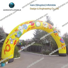 Inflatable round advertising arch