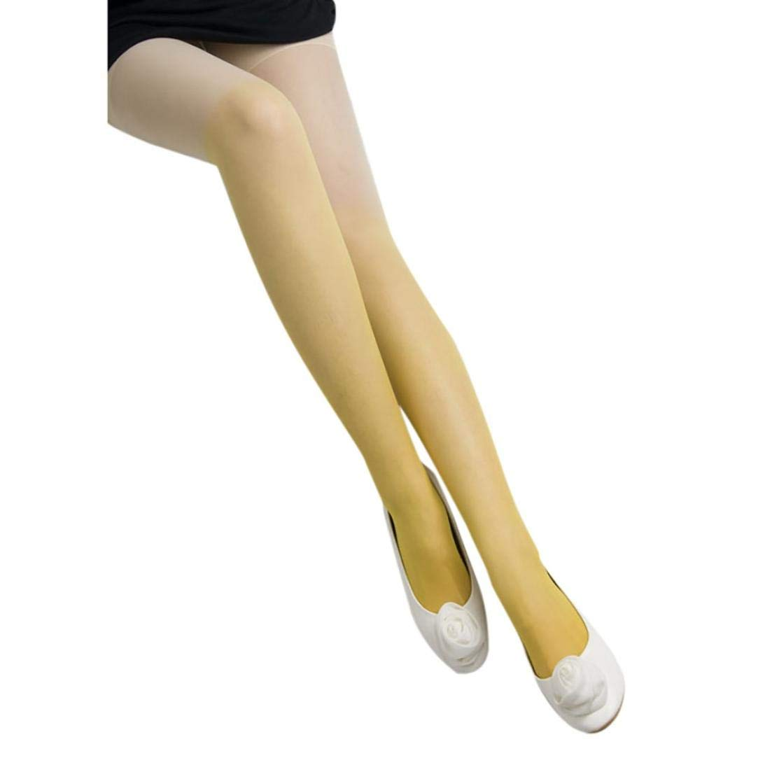 6a549d3f4fe Get Quotations · Girls Hose Colorful Slim Tights Tube Dresses Stockings  Women Ultrathin Stretch Cosplay Pantyhose (Yellow)
