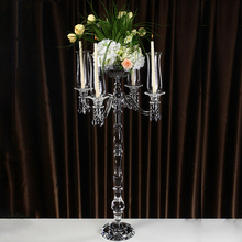crystal candle holder 5 arms candelabra wedding centerpieces for table center