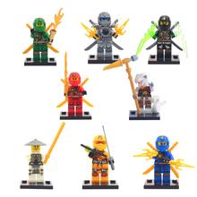 8pcs lot Naruto Ninja ninjiaed Kid Baby Toy Mini Figure Building Blocks Sets Model Toys Minifigures