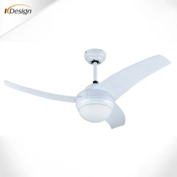 Low Profile 42 Inch White Ceiling Fan Light Combo 3 Blade Household