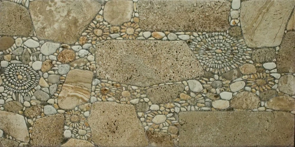 Anti slip cobblestone glazed porcelain floor tile for for Adoquines para jardin
