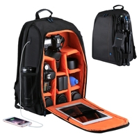 PULUZ Dual Shoulders Camera Backpack Outdoor Portable Waterproof Scratch-proof for DSLR Camera Bag