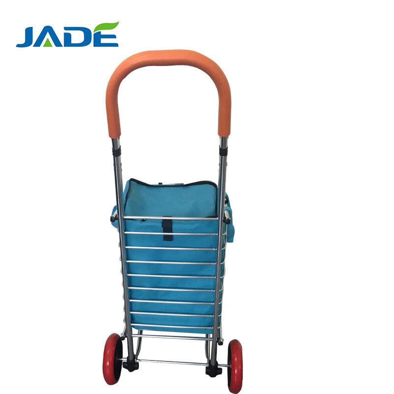 Hotel Möbel Möbel Tragbare Aluminium Warenkorb Klapp Dolly Push Lkw Hand Faltbare Trolley Gepäck