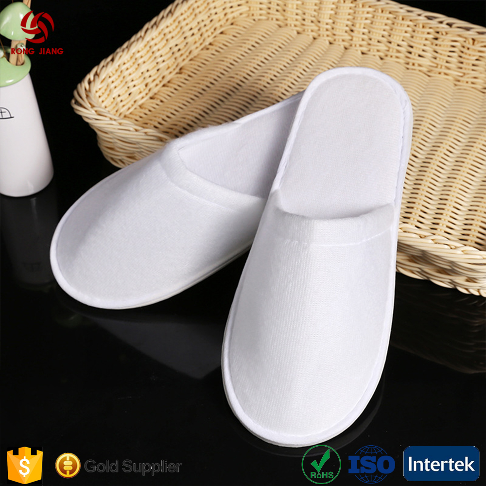 2017 new high quality luxury hotel white slippers and home slippers