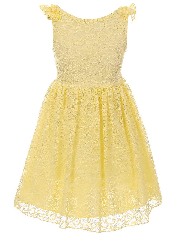 758716f86610 Cheap Blue Lace Flower Girl Dress