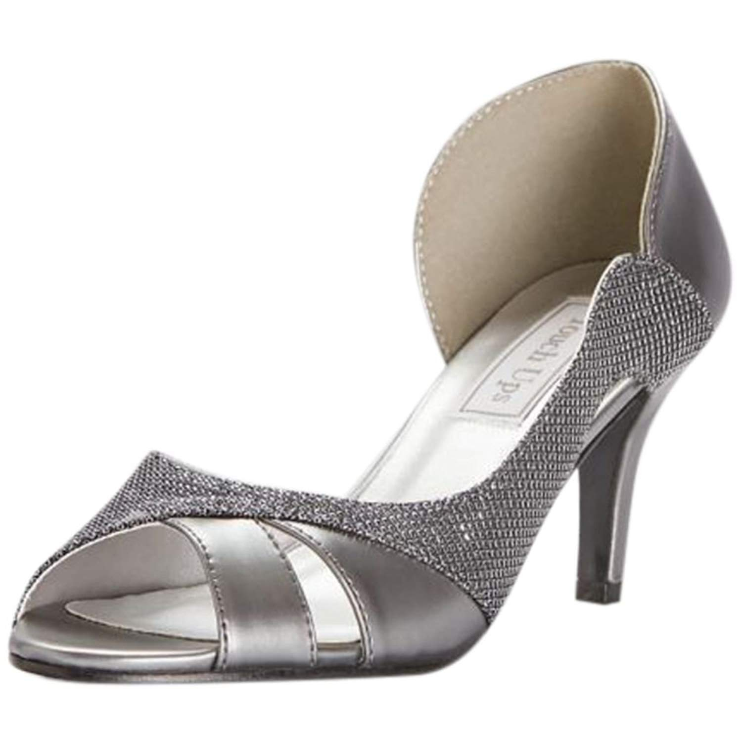 687f73543ef Get Quotations · David s Bridal Metallic D Orsay Heels with Metallic Fabric  Inset Style Charlie
