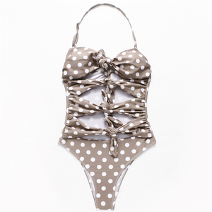 b996b976359 Ad 2019 Hot Sale Sexy One Piece Wave Dot Point Bikini New Style Best  Quality and Cheap Fabric Swimsuit For Women