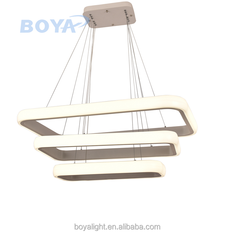 Acrylic modern square LED Pendant Light 140w Brightnss for Office