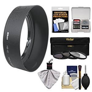 Nikon HB-45 Bayonet Lens Hood for Nikon 18-55mm VR DX AF-S Zoom-Nikkor + 3 (UV/CPL/ND8) Filter Set + Accessory Kit (with D40, D60, D90, D3000, D3100, D5000 & D7000 Digital SLR Camera)