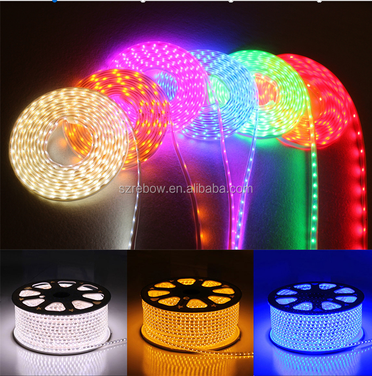 50m/Roll China led light 120v white bicolor led strip 5050 ip67 brilliant flexible led strip light 5050