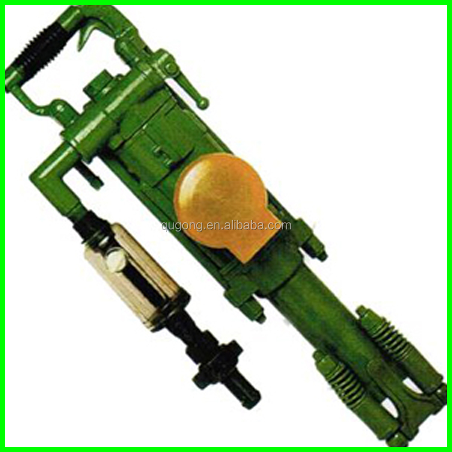 hand-held rock core drilling machine for drilling the rock