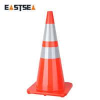 Wholesale Good Quality Orange Flowing Base PVC Plastic Traffic Cone for Safety