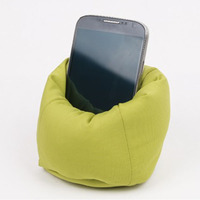bean bag mobile phone holder