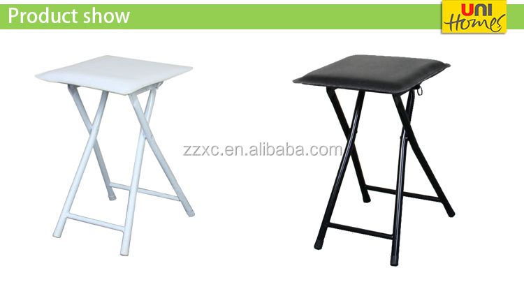 Cheap Folding Stools with Upholstered Seat
