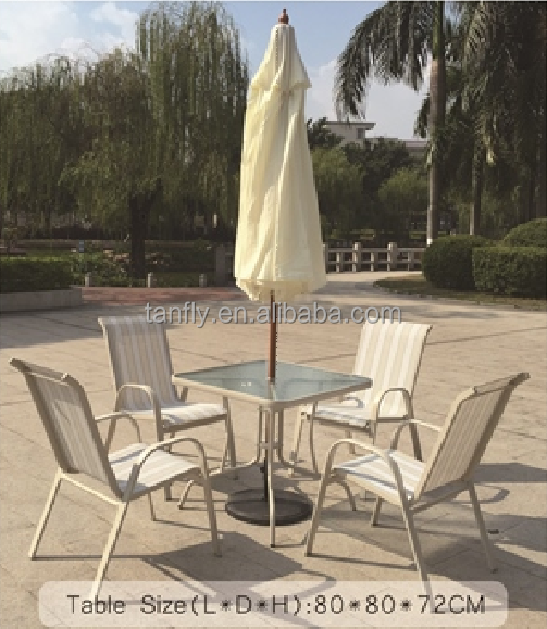 Outdoor Furniture Aluminum Bistro Table and Chair Set