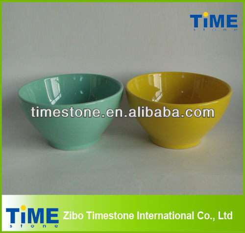 Modern Custom Solid Color Ceramic Cereal Bowl