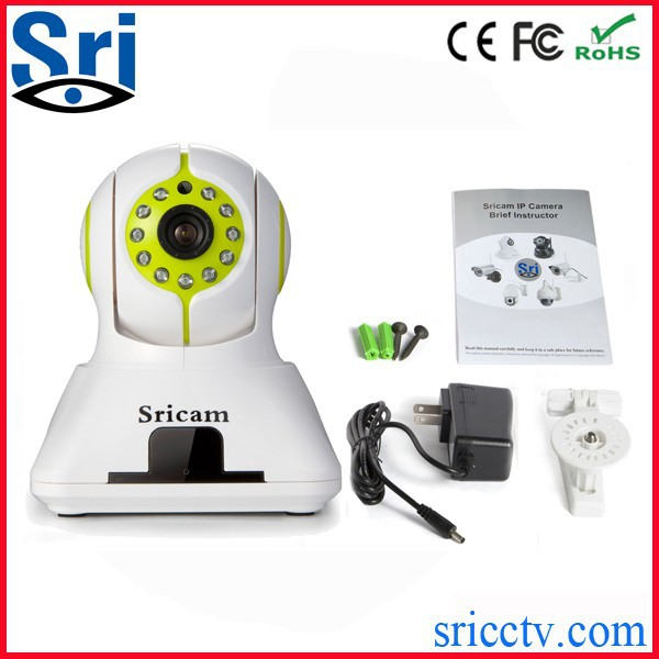 Sricam SP006 Wifi Onvif P2P H.264 128G SD Card Motion Activated Speed Dome Security Camera
