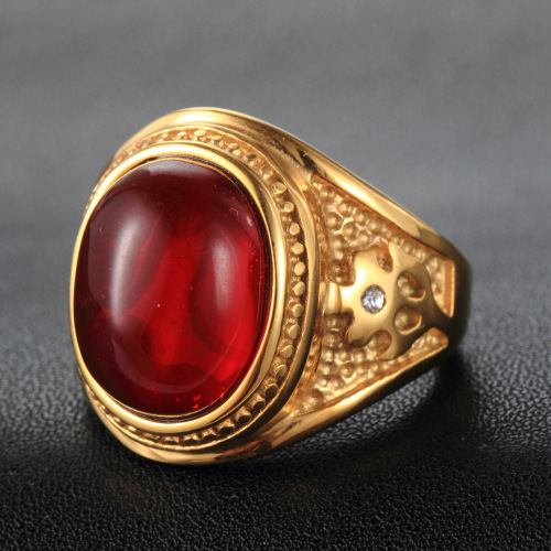 Classical Vintage Red Sapphire 925 Sterling <strong>Silver</strong> Gold Plated Filled Women Wedding Ring