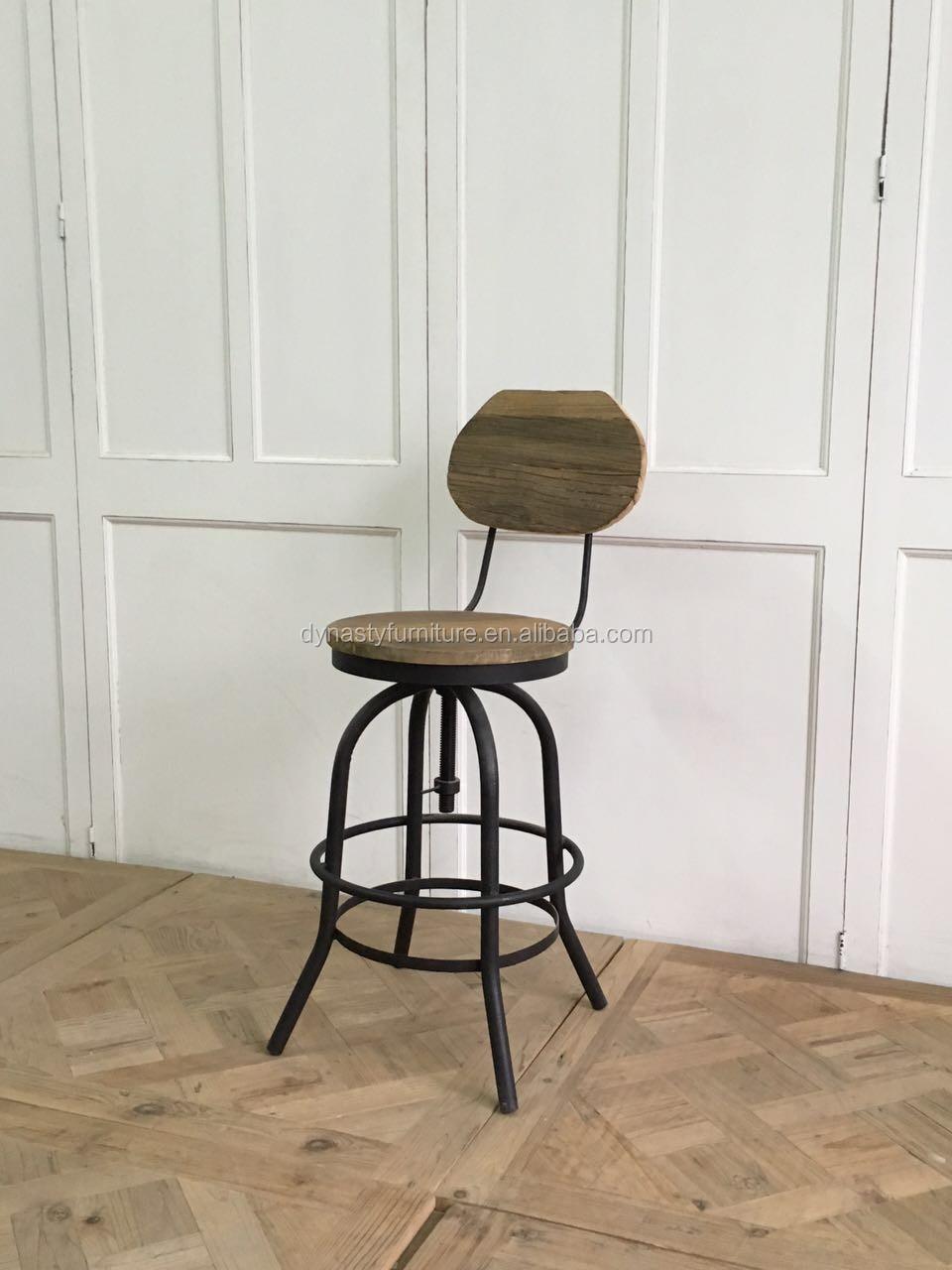 Style Industriel En M Tal Cadre Tabouret De Bar Chaise Haute Chaises