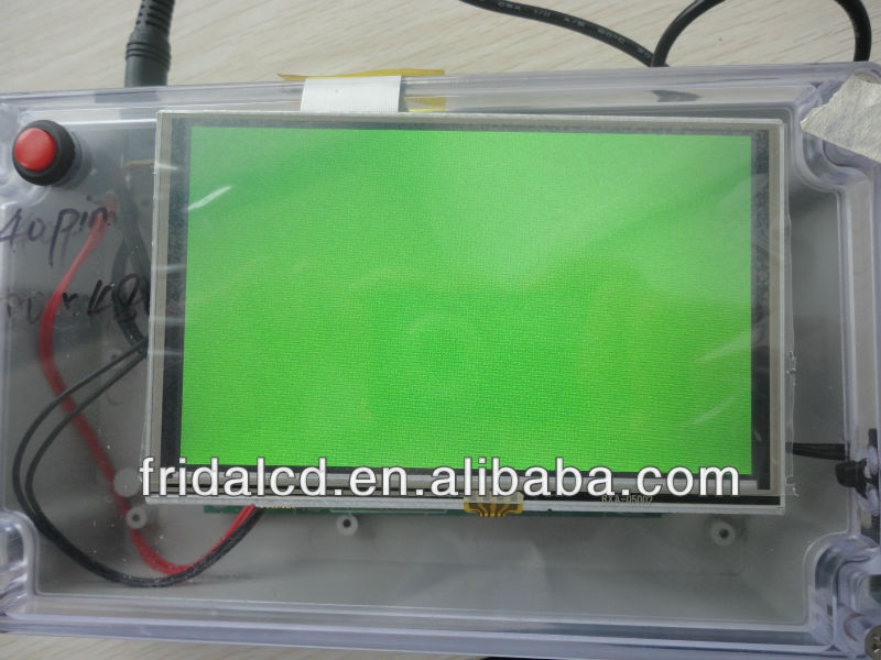 high brightness 400cd 5 inch 800x480 tft lcd display 40PIN with touch panel