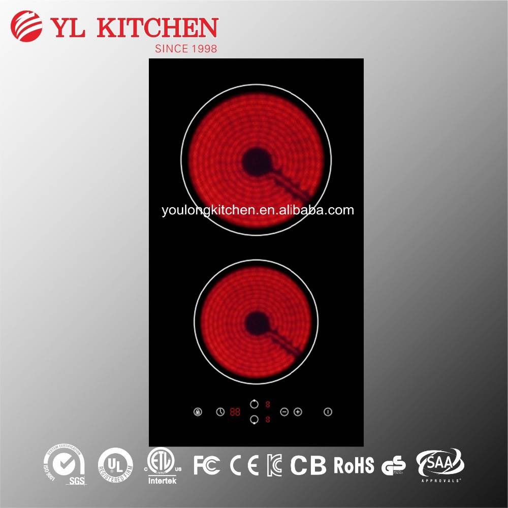 2 Burners kitchen appliance electric ceramic stove/cooker