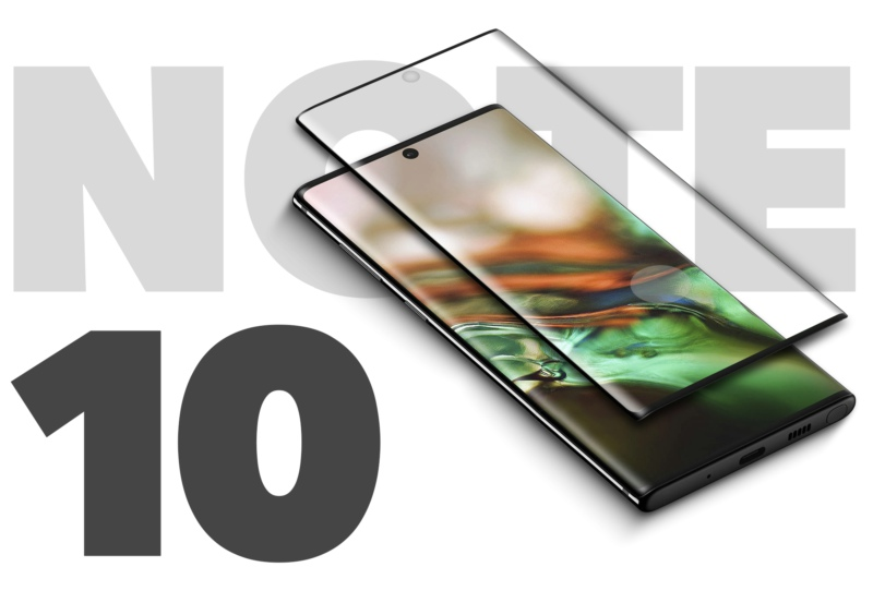 samsung note 10 tempered glass