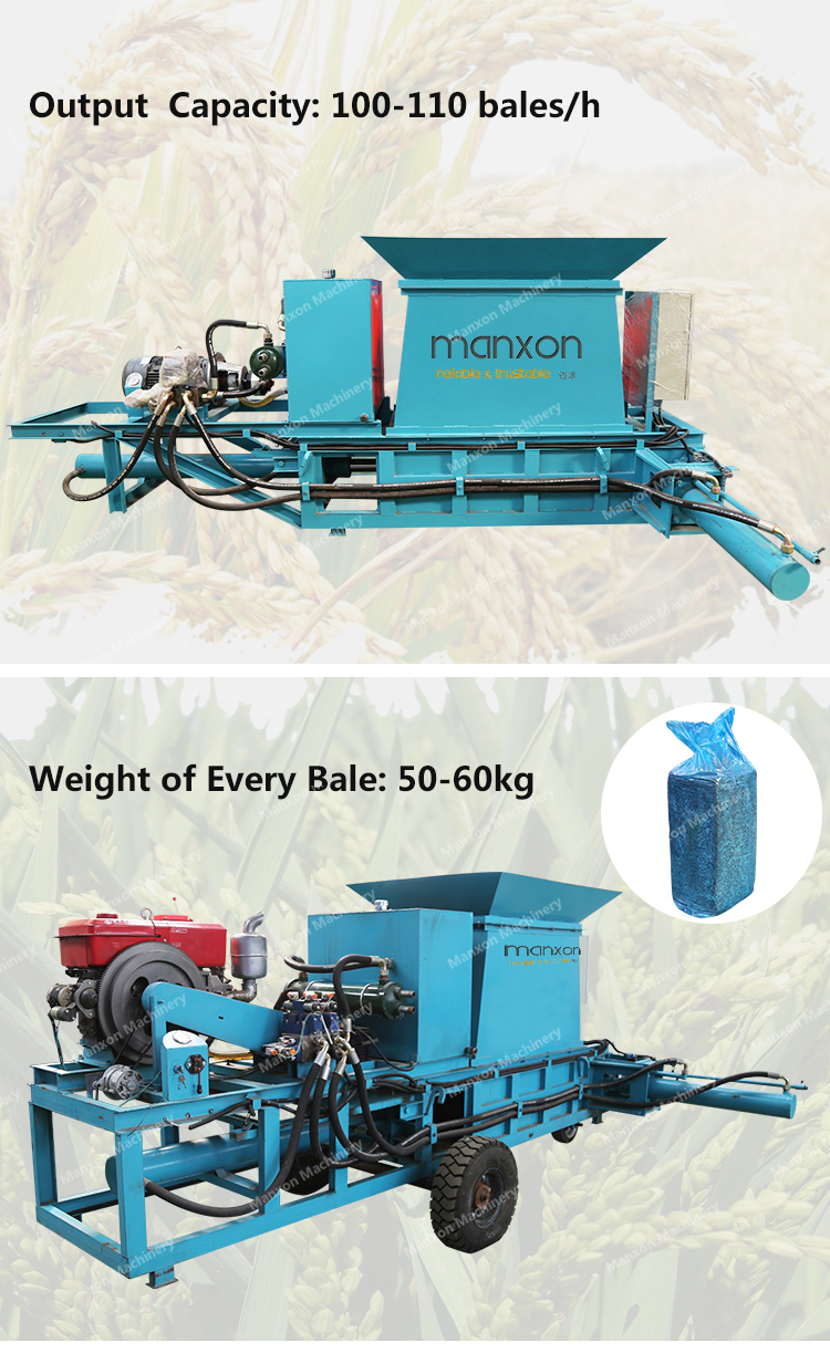 Heißer Verkauf Quadrat Heu Stroh Ballenpresse Maschine Mit Elektromotor Mini Silage Ballenpresse